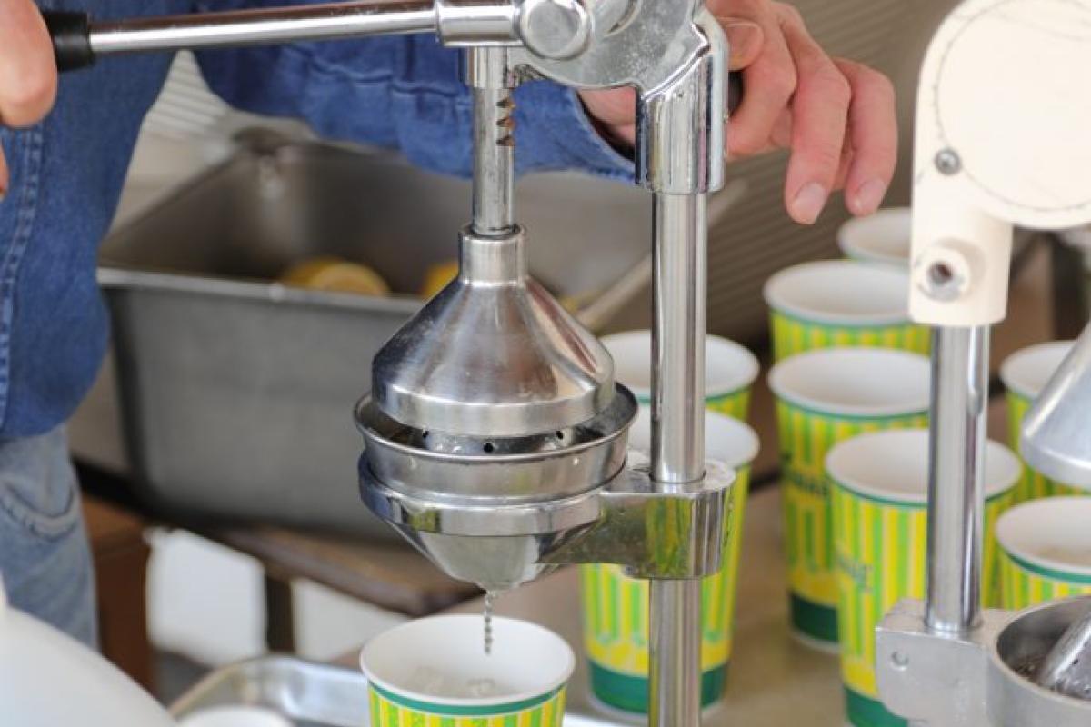 man making lemonade